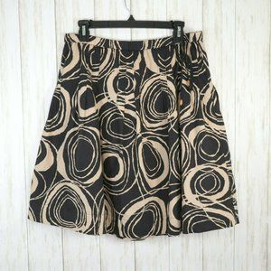 Old Navy Black Beige Print Cotton Skirt Size 6